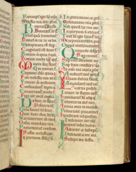 Coloured Initials, In A Breviary